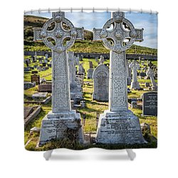 Celtic Crosses Shower Curtain by Adrian Evans