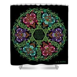 Celtic Fairy Mandala Shower Curtain