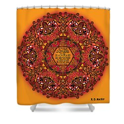 Celtic Fall Fairy Mandala Shower Curtain