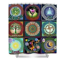 Celtic Festivals Calendar Shower Curtain