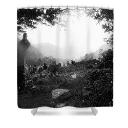 Celtic Graveyard Shower Curtain