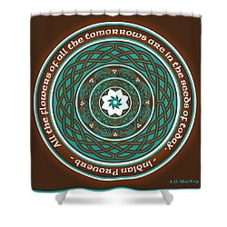 Celtic Lotus Mandala Shower Curtain