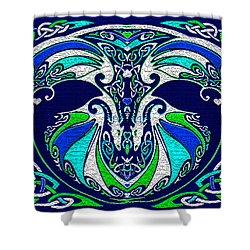 Celtic Love Dragons Shower Curtain by Michele Avanti