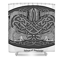 Celtic Salmon Shower Curtain