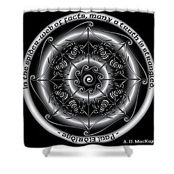 Celtic Spider Mandala Shower Curtain