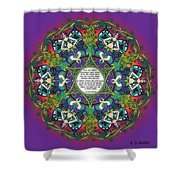 Celtic Spring Fairy Mandala Shower Curtain
