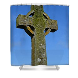 Celtic Stone Cross In Ireland Shower Curtain