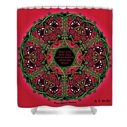 Celtic Summer Fairy Mandala Shower Curtain