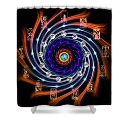 Celtic Tarot Moon Cycle Zodiac Shower Curtain