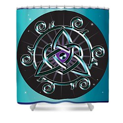 Celtic Triquetra Heart Shower Curtain