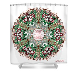 Celtic Winter Fairy Mandala Shower Curtain