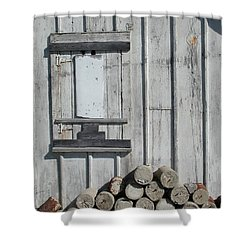 Cemetery Shed Shower Curtain by Joseph Yarbrough