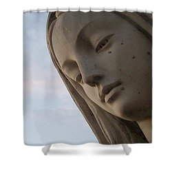 Cemetery Statue Shower Curtain by Justin Moore