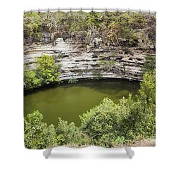 Cenote Sagrado At Chichen Itza Shower Curtain