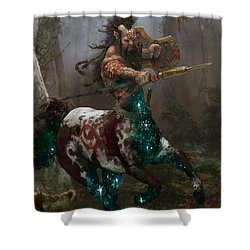 Centaur Token Shower Curtain