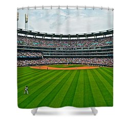 Center Field Shower Curtain by Frozen in Time Fine Art Photography