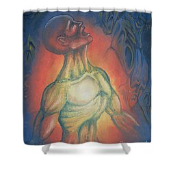 Center Flow Shower Curtain by Michael  TMAD Finney