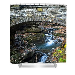 Central Cascade Shower Curtain by Frozen in Time Fine Art Photography