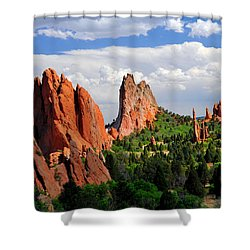 Central Garden Of The Gods Park Shower Curtain