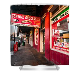 Shower Curtain featuring the photograph Central Grocery And Deli In New Orleans by Andy Crawford