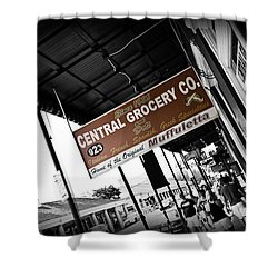 Central Grocery Shower Curtain by Scott Pellegrin