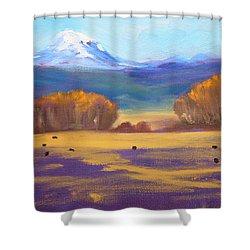 Central Oregon Shower Curtain by Nancy Merkle