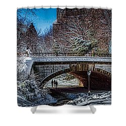 Central Park After Nemo Shower Curtain by Chris Lord