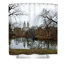 Central Park And San Remo Building In The Background Shower Curtain by RicardMN Photography