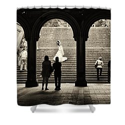 Central Park Bride Shower Curtain