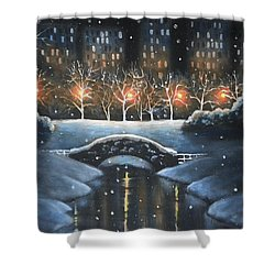 Central Park In Colour Shower Curtain