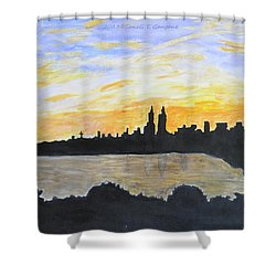 Central Park In Newyork Shower Curtain