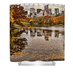 Central Park In The Fall New York City Shower Curtain
