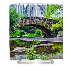 Central Park Nature Oasis Shower Curtain