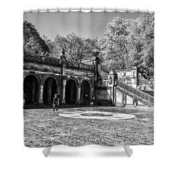 Central Park - Near Bethesda Fountain Shower Curtain by Madeline Ellis