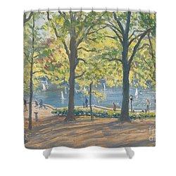Central Park New York Shower Curtain by Julian Barrow