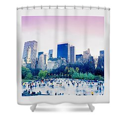 New York In Motion Shower Curtain by Shaun Higson