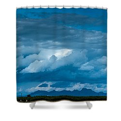 Central Valley Clouds Shower Curtain