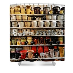 Ceramic Pots For Sale Shower Curtain