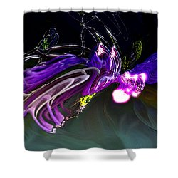 Shower Curtain featuring the digital art Cerebral Backlash by Richard Thomas