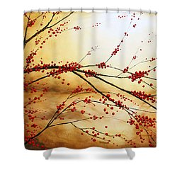 Cerezo Iv Shower Curtain by Angel Ortiz