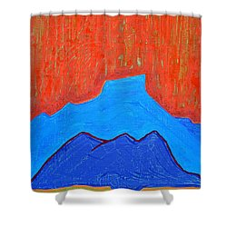 Cerro Pedernal Original Painting Sold Shower Curtain