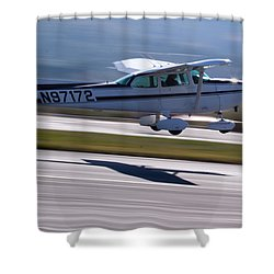 Cessna Takeoff Shower Curtain