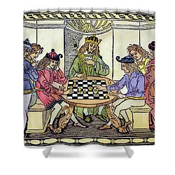 Shower Curtain featuring the painting Cessolis Chess, 1493-94 by Granger
