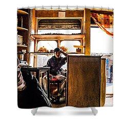 Chai Shop In Northern India Shower Curtain