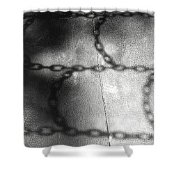 Chain Ladder Shower Curtain by James Aiken