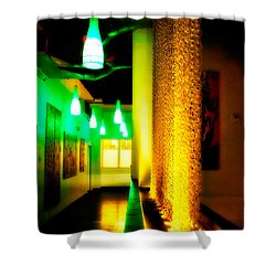 Chain Lighting Shower Curtain by Melinda Ledsome