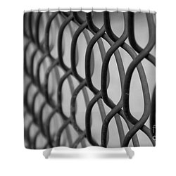 Shower Curtain featuring the photograph Chain Links by Ruth Jolly
