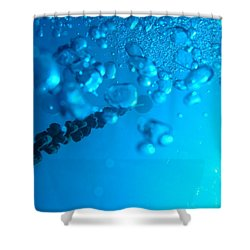 Shower Curtain featuring the photograph Chained Bubbles by Mim White