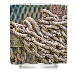 Chained Up Shower Curtain by Heather Applegate