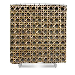 Shower Curtain featuring the photograph Chair Caning  by Sherman Perry